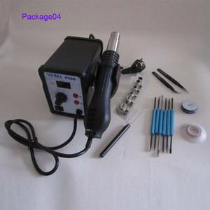 플랫 케이블 5 개 노즐은 용접과 YIHUA BGA 858D 재 작업 역 220V 650W 뜨거운 공기 총