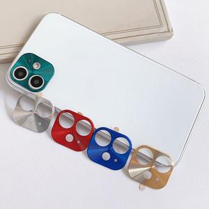 Nuovo per iPhone 11 6.1in telaio in metallo Cellulari completa copertura di vetro Camera Screen Protector lente in vetro antigraffio