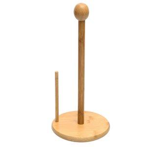 Bamboo supporto di carta igienica Free Standing rotolo Tissue bagagli stand 3x13inch, portasciugamani, usi Multi