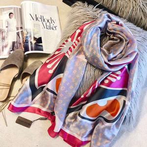 de seda de lujo de diseño de moda bufandas de las señoras impresas pañuelos de seda de gran chal 4 colores disponibles 180 * 90cm 2019 la venta caliente