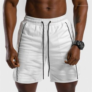 Sports Shorts Outdoor Casual Mid Waist Straight Solid Color Fashion Shorts Male Designer Pants Mens Lace Up