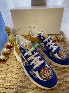 Versace bajo-top calzado deportivo calzado casual de los hombres de moda de lujo de alta calidad diseñador principal de la belleza hococal