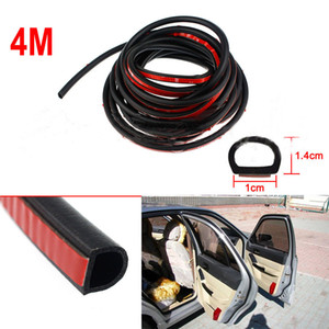 400x0.14mm D Shape Auto Car Door Rubber Weather Seal Hollow Strips Weatherstrip