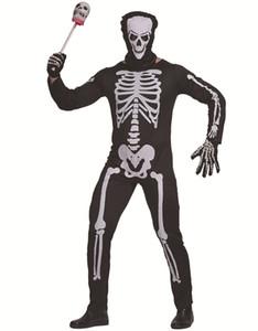 Mens Orrore Designer Tema costume di Halloween Festival di scena di ruolo costume cosplay Suit spaventoso Maschi Skeleton