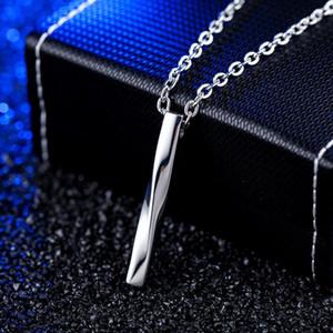 Twisted Titanium Steel Mens Anhänger Halsketten - Edelstahlkette Designer Halskette Schmuck Hip Hop Schmuck Geschenk