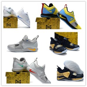 retroNikeAire Playstation x PG 2.5 zapatos de baloncesto de la Universidad Paul George BQ8388 Azul real Rojo Amarillo Racer MVP zapatos atléticos