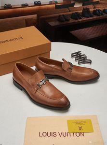العلامات التجارية الفاخرة 19MM عارضة زلة نسج متعطل في مان اللباس الأحذية MAN جلد الأحذية لربيع وصيف تريند أعلى منخفض تنفس متعطل YECQ5