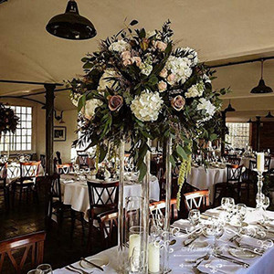 Venta al por mayor del piso Acylic florero claro florero de la tabla de la pieza central matrimonio moderno floral de la vendimia de stands Columnas de decoración de boda