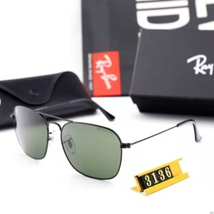 New sunglasses men designer metal vintage sunglasses fashion style square frameless UV 400 lens with original case