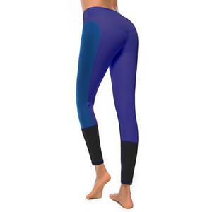 LAISIYI 2019 New Spring 3 colori patchwork leggings donna alta elasticizzato pantaloni legging femminile ragazza abbigliamento Leggins Plug Size