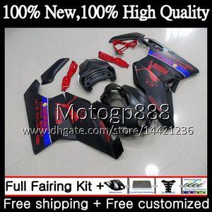 Karosserie für DUCATI 749R 999R 05-06 749 999 2005 2006 Mattschwarz 17PG10 749 999 R MotorcyPGe Karosserie 749S 999S 05 06 Verkleidung Karosserie-Kit
