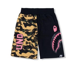 New White Camouflage Shark Shorts Coppia Beach Casual Uomo Donna Pantaloni Hot BIBER Shark Head Uomo Stampa Camouflage Pantaloncini