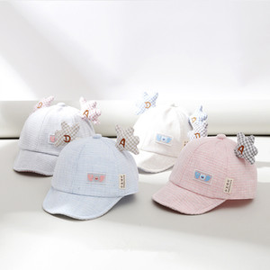 Soft Cap Five-pointed Star Small Ear AD Letter Embroidered Baby Cap Spring And Summer Baby Windproof Sunshade Hat
