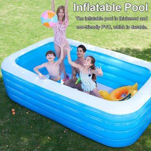 Inflatable Swimming Pool Adults Children's Baby Paddling Game Square Shape Bubble Bottom Outdoor Indoor Swimming PoolA
