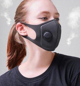 Дыхательный клапан Маска унисекс губка маски для лица PM2. 5 загрязнение половина лица рот Маска с дыханием широкие ремни моющиеся маски крышка новый GGA3518