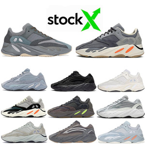 En Moda Teal Mavi Hastane Mavi Mıknatıs Kanye West 700 erkek Atalet Vanta 700s Statik Kadınlar Dalga Runner leylak 5-12 sneakers Koşu Ayakkabıları