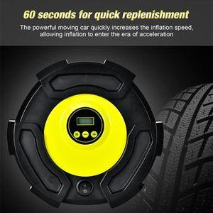 Portable Car Air Compressor DC 12V Digital Tire Inflator Air Pump 100 PSI Auto Pump for Car Motorcycle LED Light Tire
