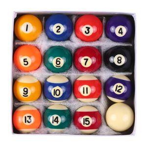 25MM   38MM Billard Balls Children Billiards Pool Table Balls Set Polyester Resin Small Cue Full Set billiard