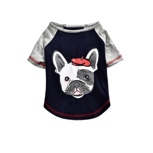 High quality dog printed t-shirt, wholesale luxury custom boy dog clothes summer bulk