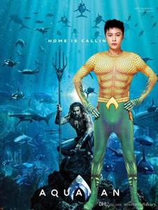 Hero Costume Tenues Thème Fantaisie Robe de soirée et des vêtements de carnaval Aquaman Cosplay Hommes Vêtements Halloween Designer