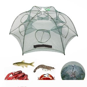 4 8 12 16 Holes Folding Automatic Fishing Net Fish Minnow Shrimp Crab Mesh Trap Portable Fishing Net Tools