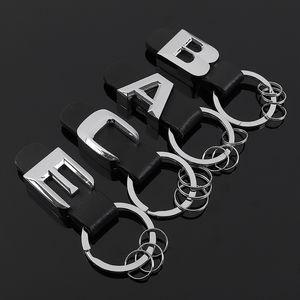 Mercedes Benz AMG Brabus C E B A Sınıfı aksesuarları için Mercedes Benz Kuyruk modeli amblem anahtar halkası için 3D Yeni Metal deri araba anahtarlık