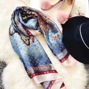 Outdoor-Reisen hochwertige High-End-Luxus-Designer Seidenschal modische Dame Frühjahr und Sommer neue gedruckte Schal 180 * 90cm W01