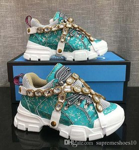 Zapatillas de deporte FlashTrek con cristales desmontables, de piel suela de Montaña Botas y zapatos casuales de las mujeres netas de excursión los zapatos multicolor E8
