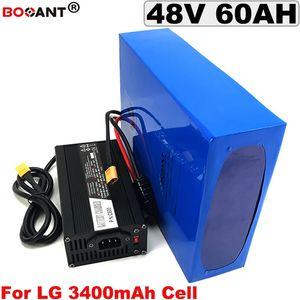 Batterie au lithium rechargeable 48V 60AH pour Bafang BBSHD 2000W 3000W moteur batterie de vélo électrique 48V + 5A chargeur livraison gratuite