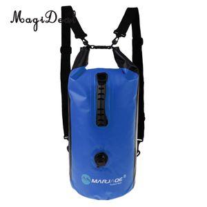MagiDeal 30L Bolsa impermeable a prueba de agua Mochila para camping Canotaje flotante Deportes acuáticos Canoa Kayak Deriva Accesorios para yates de vela ligera