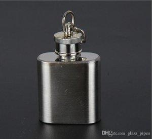 Paslanmaz çelik kap şişesi cep şişesi Vidalı kapak açık su ısıtıcısı şişesi taşınabilir tekrarlanabilir katı kişiselleştirilmiş logo yüksek kalite 1 oz CFYZ67