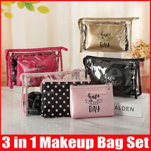 Tragbare Kosmetik-Beutel-Kits in 3 in 1 im Freien wasserdicht stilvollen Make-up Taschen bilden Sets Organizer