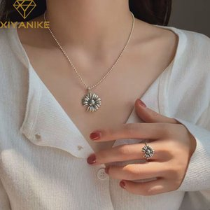 XIYANIKE 925 Stamp Silver Color Fashion Cute Daisy Pendant Necklace Charm Women Thai Silver Jewelry Elegant Party Accessories
