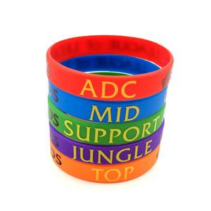 Lot 200PCS Wholesale Colorful LOL Bracelet League of Legend Wristband Game Party Live Rubber Silicon Men's Women's Bracelets