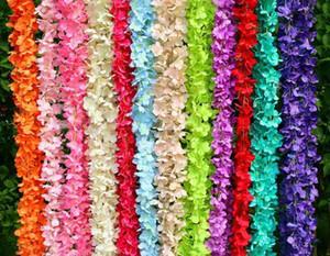 200cm Long Artificial Wisteria Flower Vine Silk Hydrangea rattan DIY Wedding birthday party Decoration Wall backdrop flowers