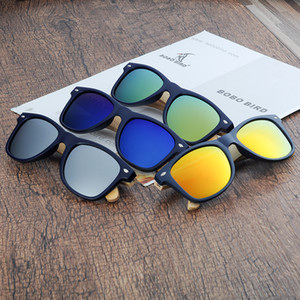 BOBO BIRD Bamboo Wooden Sunglasses Women Retro Polarized Wood Sun Glasses Men Drop Shipping