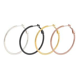 30 мм 40 мм 50 мм 60 мм 70 мм преувеличить большой гладкий круг серьги обруча Brincos простой партии круглые серьги петли для женщин ювелирные изделия