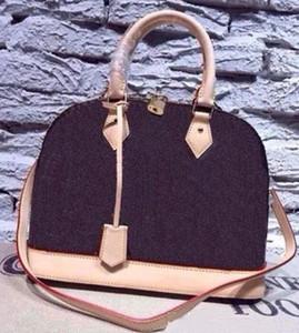 Женская сумочка alma bb shell bag Top handle симпатичная сумка Damier Ebene crossbody bag лакированная кожа дизайнерские женские сумки Сумки на ремне