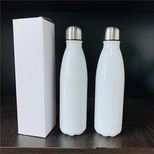 17 oz 17 oz botella de refresco de cola sublimación botella de acero inoxidable Cola doble pared con aislamiento al vacío botellas de agua potable del deporte al aire libre de la Copa 500ml