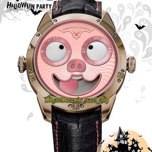TW V3S Best Edition Konstantin Chaykin Moon Fase Joker Halloween Piglet Dial NH35A Mecánico Mecánico Reloj Relojes de diseño de cuero