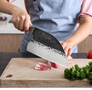 Couteau de cuisine HandmadeTraditional Couteau forgé chinois Cleaver Chef de Slicing viande outil lame
