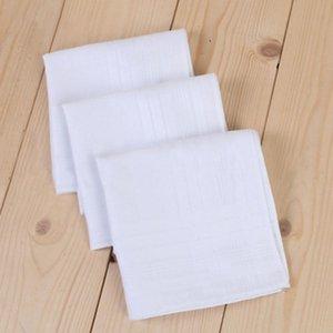 Große größe 43 * 43 cm Weiß Geschirrtaschentuch Reine Küchentaschentuch Reine Farbe Kleine Quadratische Baumwolle Schweiß Handtuch Plain Taschentuch