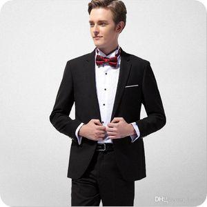 Latest Coat Pant Designs Black Men Suits for Wedding Groom Tuxedo Best Man Blazer Jacket Notched Lapel 2Piece Slim Fit Costume Homme Ternos