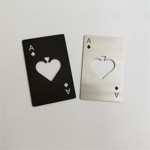 크리 에이 티브 포커 카드 병 오프너 스테인레스 스틸 포커 스페이드의 카드 놀이 맥주 와인 오프너 바 부엌 도구