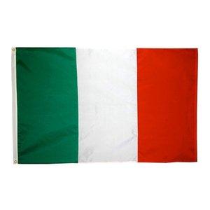 Ücretsiz nakliye 100% Polyester 90 * 150 cm uçan yeşil beyaz kırmızı Dekorasyon Için tlay İtalyan ulusal Bayrak