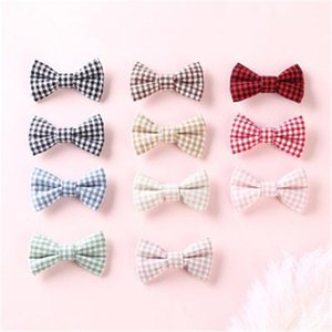 Kids hair accessories diy cloth hairpin small square bow girl hairpin word clip baby boutique hair accessories children hairpin BFJ767