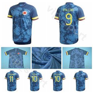 2020 Futebol Colômbia 9 FALCAO Jersey 19 MURIEL 5 BARRIOS 6 TESILLO 3 MEDINA 2 ZAPATA 1 OSPINA 12 VARGAS Football Shirt Kits