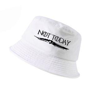 PAS AUJOURD'HUI Arya hommes chapeau seau STARK femmes d'été chapeau de pêcheur chapeau de pêche Harajuku panama