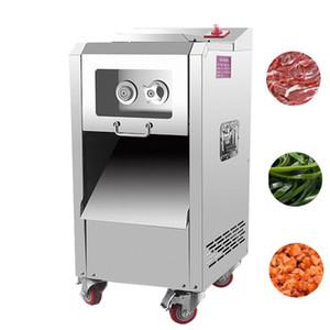 Wholesale electric meat cutting machine vertical 2200W electric pork meat cutting machine stainless steel slice cutting machine
