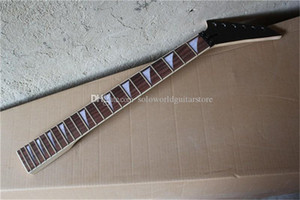 Factory Custom 6 Strings Black Headstock Electric Guitar Neck with Rosewood Fingerboard,22 Frets,Can be customized as request